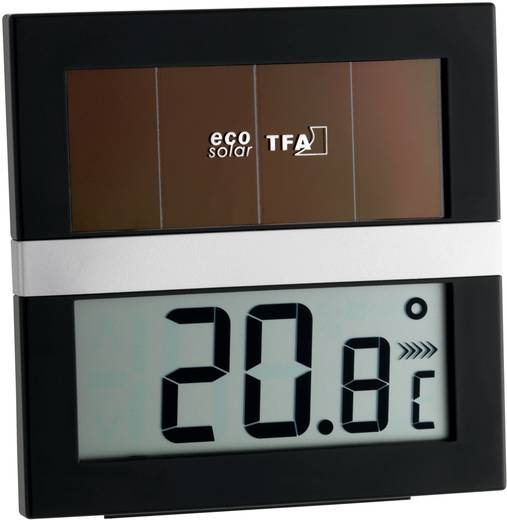 TFA Eco Solar Solar Thermo-/Hygrometer Schwarz-Silber