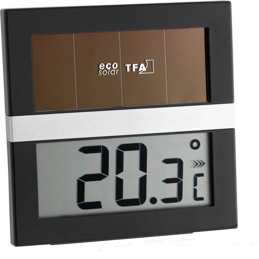 TFA Eco Solar Thermometer Schwarz