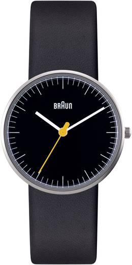 Braun Quarz Armbanduhr BN0021BKBKL (Ø x H) 31 mm x 8 mm Edelstahl Gehäusematerial=Edelstahl Material (Armband)=Leder