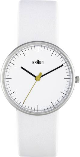 Braun Quarz Armbanduhr BN021WHWHL (Ø x H) 31 mm x 8 mm Edelstahl Gehäusematerial=Edelstahl Material (Armband)=Leder
