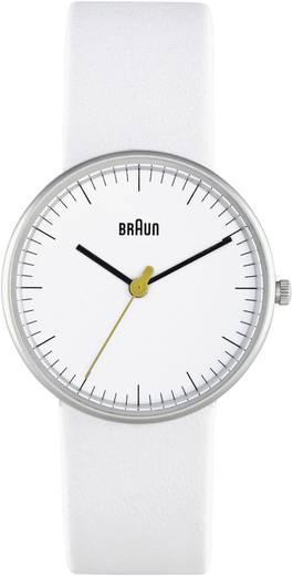 Quarz Armbanduhr BN021WHWHL (Ø x H) 31 mm x 8 mm Edelstahl Gehäusematerial=Edelstahl Material (Armband)=Leder Braun