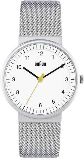 Braun Quarz Armbanduhr BN0031WHSLMHL (Ø x H) 33 mm x 8 mm Edelstahl Gehäusematerial=Edelstahl Material (Armband)=Edelsta