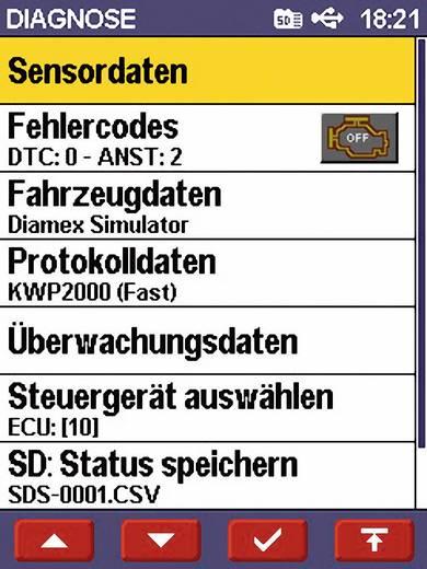 OBD II Handheld-Analyser mit PC-Anbindung Scandevil II Diamex 7101 Geeignet für alle Fahrzeuge mit OBD II Buchse