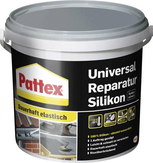 Pattex Silikon Farbe Schwarz DAR4S 4 l