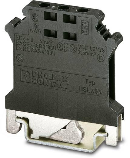 Phoenix Contact USLKG 4 BK/BK 2798789 Bezugspotenzialklemme Polzahl: 2 0.2 mm² 4 mm² Schwarz 50 St.