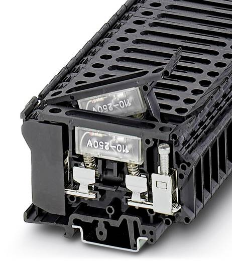 Phoenix Contact UK 6,3-HESILA 500 3004236 Sicherungsreihenklemme Polzahl: 2 0.5 mm² 16 mm² Schwarz 50 St.
