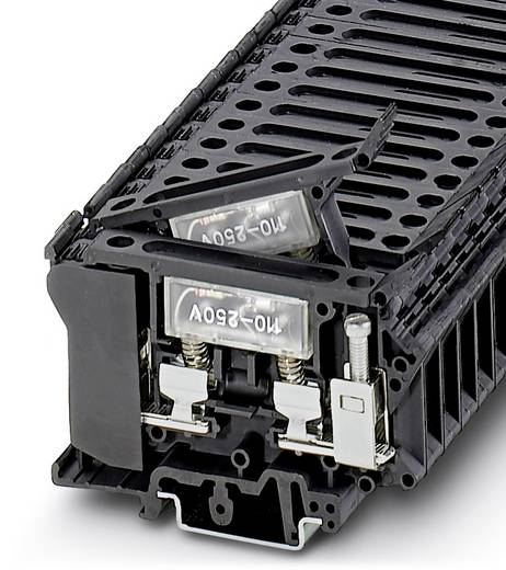 Phoenix Contact UK 6,3-HESILA 250 3004249 Sicherungsreihenklemme Polzahl: 2 0.5 mm² 16 mm² Schwarz 50 St.