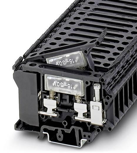 Phoenix Contact UK 6,3-HESILED 24 3004265 Sicherungsreihenklemme Polzahl: 2 0.5 mm² 16 mm² Schwarz 50 St.