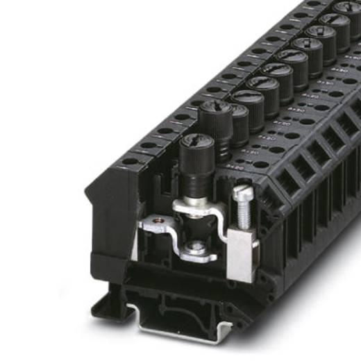 Phoenix Contact UK 10-DREHSILED 12 (5X20) 3005112 Sicherungsreihenklemme Polzahl: 2 0.5 mm² 16 mm² Schwarz 50 St.