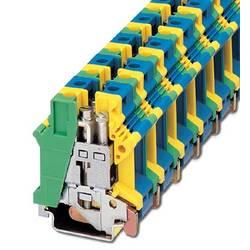 Inštalačné svorka ochranného vodiča Phoenix Contact UK 16 N-PE/N 3006179, 10 ks, zelená, žltá, modrá