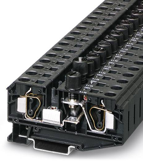 Phoenix Contact ZFK 6-DREHSILA 250 (6,3X32) 3025574 Sicherungsreihenklemme Polzahl: 2 0.5 mm² 6 mm² Schwarz 25 St.