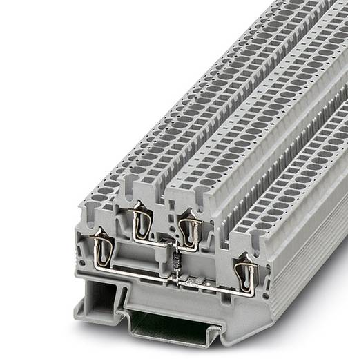 Phoenix Contact STTB 2,5-DIO/U-O 3031563 Bauelementreihenklemme Polzahl: 4 0.08 mm² 2.5 mm² Grau 50 St.