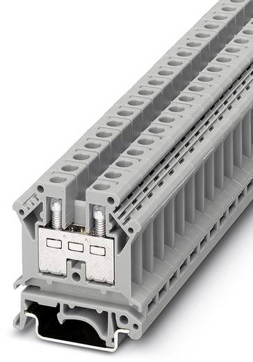 Phoenix Contact UK 10-PR 3005028 Durchgangsreihenklemme Polzahl: 2 0.5 mm² 6 mm² Grau 50 St.