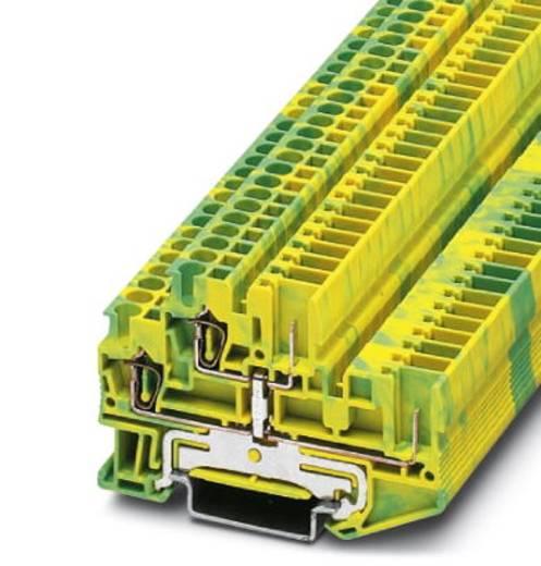 Phoenix Contact STTB 2,5/2P-PE 3040067 Schutzleiter-Doppelstockklemme Polzahl: 4 0.08 mm² 2.5 mm² Grün-Gelb 50 St.