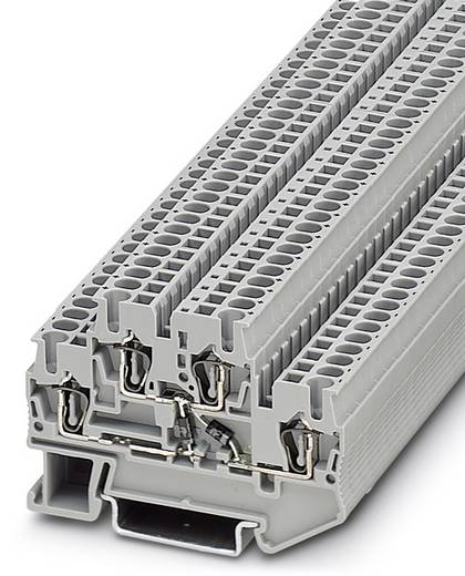 Phoenix Contact STTB 2,5-2DIO/UL-O/UR-O 3031652 Bauelementreihenklemme Polzahl: 4 0.08 mm² 2.5 mm² Grau 50 St.