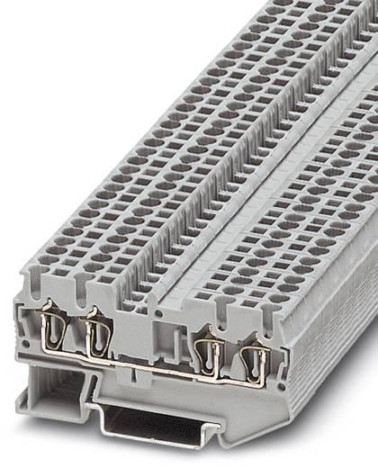 Phoenix Contact ST 2,5-QUATTRO-BE BK 3028924 Bauelementreihenklemme Polzahl: 4 0.08 mm² 2.5 mm² Schwarz 50 St.