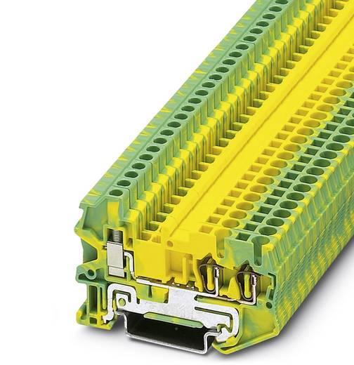 Phoenix Contact STU 2,5-TWIN-PE 3033032 Durchgangsreihenklemme Polzahl: 3 0.08 mm² 2.5 mm² Grün-Gelb 50 St.