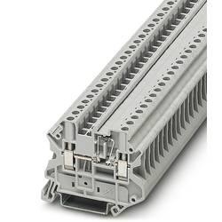 Řadová svorka průchodky Phoenix Contact UT 4-MTD-DIO/L-R 3046210, 50 ks, šedá