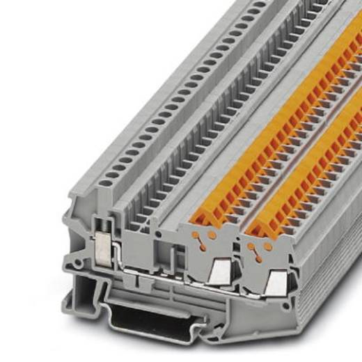 Phoenix Contact QTCU 1,5-TWIN 3050044 Durchgangsreihenklemme Polzahl: 3 0.25 mm² 1.5 mm² Grau 50 St.