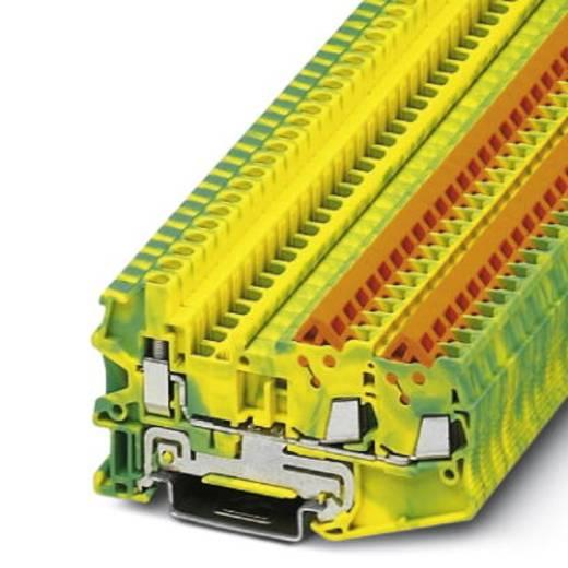 Phoenix Contact QTCU 1,5-TWIN-PE 3050060 Durchgangsreihenklemme Polzahl: 3 0.25 mm² 1.5 mm² Grün-Gelb 50 St.