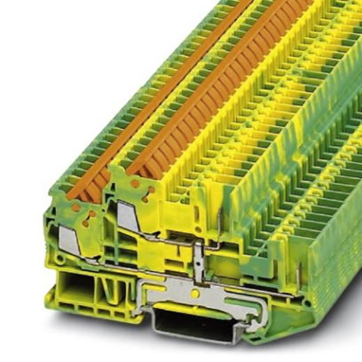 Phoenix Contact QTTCB 1,5/ 2P-PE 3050219 Schutzleiter-Doppelstockklemme Polzahl: 4 0.25 mm² 1.5 mm² Grün-Gelb 50 St.