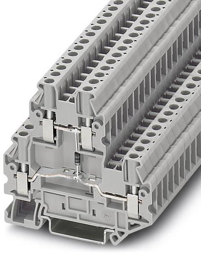 Phoenix Contact UT 4-PE/L-DIO/R-L P/P 3046235 Bauelementreihenklemme Polzahl: 2 0.14 mm² 6 mm² Grau 50 St.