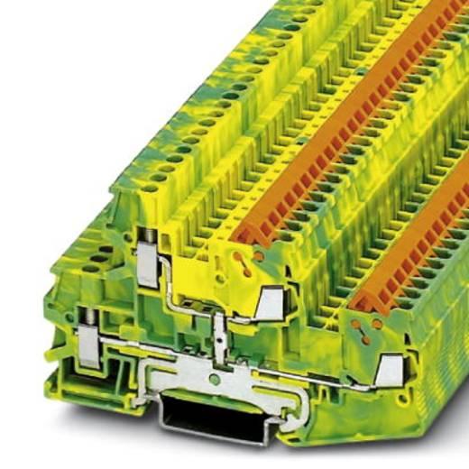 Phoenix Contact QTTCBU 1,5-PE 3050277 Durchgangsreihenklemme Polzahl: 4 0.25 mm² 1.5 mm² Grün-Gelb 50 St.