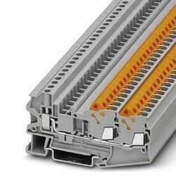 Řadová svorka průchodky Phoenix Contact QTCU 2,5-TWIN 3050303, 50 ks, šedá
