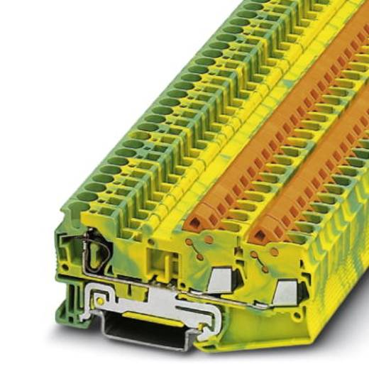 Phoenix Contact QTCS 2,5-TWIN-PE 3050358 Durchgangsreihenklemme Polzahl: 3 0.5 mm² 2.5 mm² Grün-Gelb 50 St.