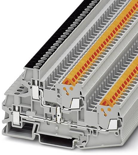 Phoenix Contact QTTCBU 1,5-PV 3050361 Durchgangsreihenklemme Polzahl: 4 0.25 mm² 1.5 mm² Grau 50 St.