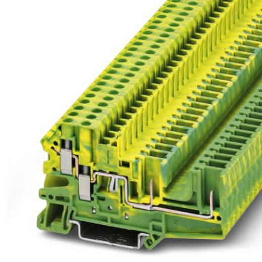 Phoenix Contact UT 4-QUATTRO/ 2P-PE 3060319 Dreistock-Schutzleiterklemme Polzahl: 4 0.14 mm² 6 mm² Grün-Gelb 50 St.