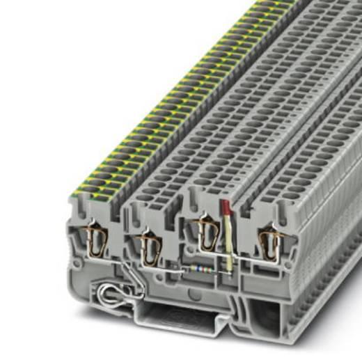 Phoenix Contact STIO 2,5/3-PE/B/L-LA24RD/O-M 3209138 Installationsschutzleiterklemme Polzahl: 4 0.08 mm² 2.5 mm² Grau 50