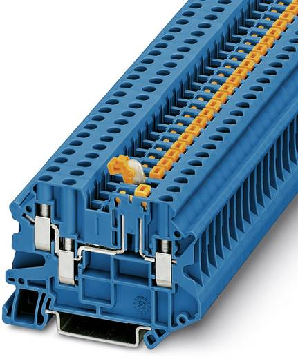 Phoenix Contact UT 4-TWIN-MT P/P BU 3073021 Durchgangsreihenklemme Polzahl: 3 0.14 mm² 6 mm² Blau 50 St.