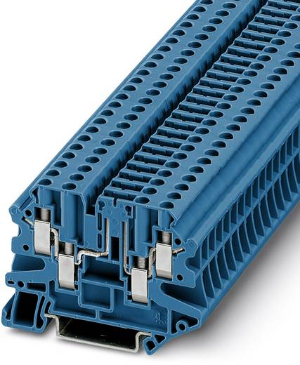 Phoenix Contact UT 4-QUATTRO-TG P/P BU 3073089 Durchgangsreihenklemme Polzahl: 4 0.14 mm² 6 mm² Blau 50 St.