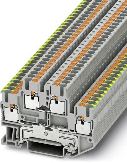 Phoenix Contact PTTB 2,5-PE/L 3210978 Schutzleiter-Doppelstockklemme Polzahl: 4 0.14 mm² 2.5 mm² Grau 50 St.