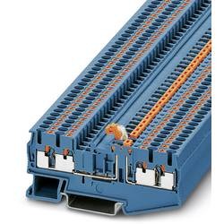 Oddeľovací svorka Phoenix Contact PT 2,5-QUATTRO-MT BU 3211676, 50 ks, modrá