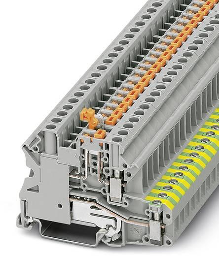 Phoenix Contact UT 4-PE/MT 3070011 Dreistock-Schutzleiterklemme Polzahl: 2 0.14 mm² 6 mm² Grau 50 St.