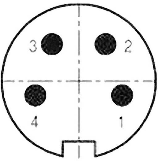 Kabelstecker mit Lötöse, schirmbar Pole: 4 Kabelstecker 6 A 99-2009-02-04 Binder 20 St.