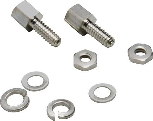 Halterungsbolzen BKL Electronic 10120291 Silber 8 Teile
