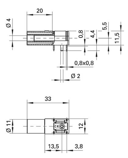 Schützinger SWEB 8094 AU/SW Laborbuchse Buchse, Einbau horizontal Stift-Ø: 4 mm Schwarz 1 St.