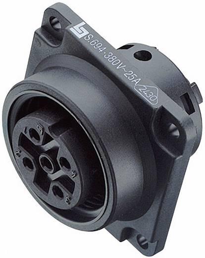 Leistungs-Einbausteckverbinder Serie 694 Pole: 4+PE Flanschdose 20 A 99-000-05 Binder 1 St.