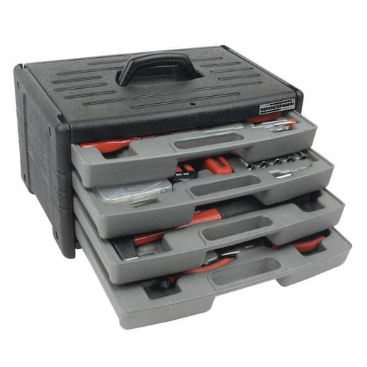 Werkzeugbox mit 4 Schubladen, 60-tlg. 29068