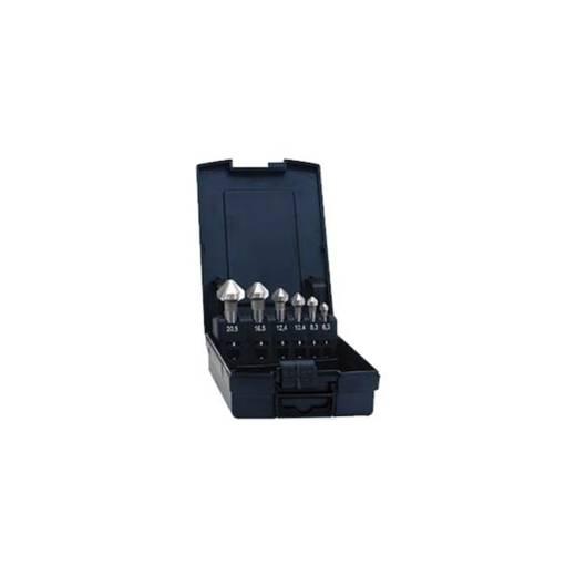 Kegelsenker-Set 6teilig 6.3 mm, 8.3 mm, 10.4 mm, 12.4 mm, 16.5 mm, 20.5 mm HSS Eventus 05540 Zylinderschaft 1 Set