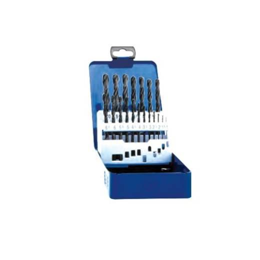 HSS Metall-Spiralbohrer-Set 19teilig Exact 32001 rollgewalzt DIN 338 Zylinderschaft 1 St.