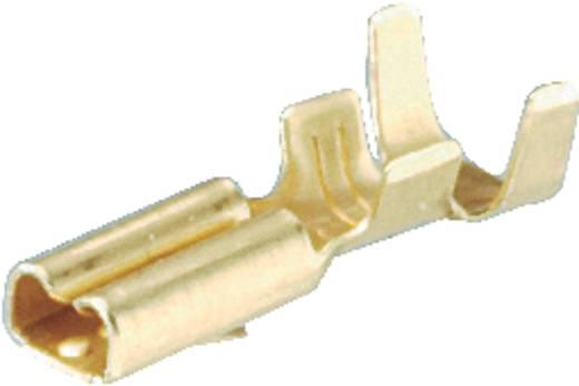 Flachsteckhülse Steckbreite: 2.8 mm Steckdicke: 0.8 mm 180 ° Unisoliert Metall Schlegel FH2,8 1 St.