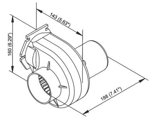 Radiallüfter 12 V 2547 l/min, 152 m³/h, 2.53 m³/min 75 mm TMC-037201-12V