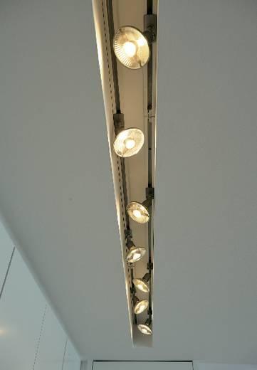 Hochvolt-Schienensystem-Leuchte 1phasig GU10 50 W Halogen SLV Puri 143392 Silber-Grau