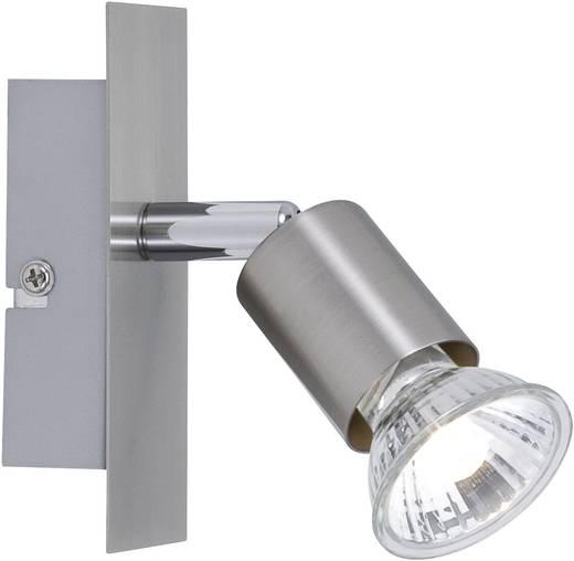 Wandstrahler GU10 50 W Halogen Paulmann Georgia 66363 Silber-Grau