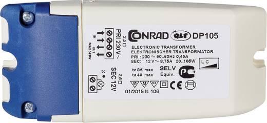 Halogen Transformator DP 105 12 V 20 - 105 W dimmbar mit Phasenabschnittdimmer, dimmbar mit Phasenanschnittdimmer