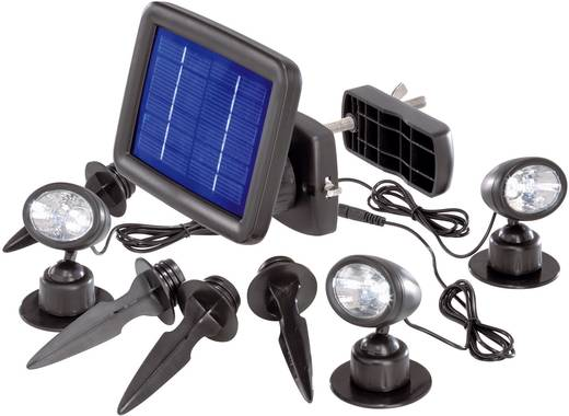 Solar-Spot LED Kalt-Weiß Renkforce Trio SP303K Schwarz